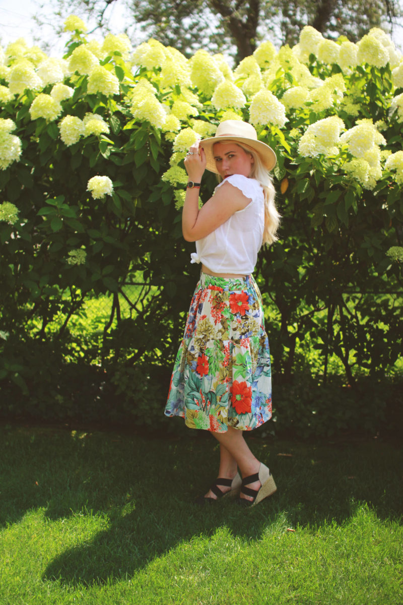 Zara Tropical Floral Skirt